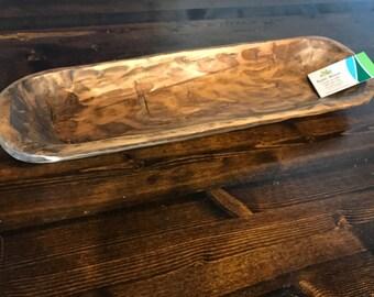 Rustic Wooden Bough Bowl