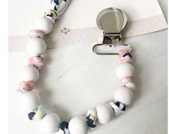 Beaded pacifier clip, pacifier holder, baby gift, Schnullerkette, Teething clip holder, baby accessories, Dummy clip, Dummy chain,