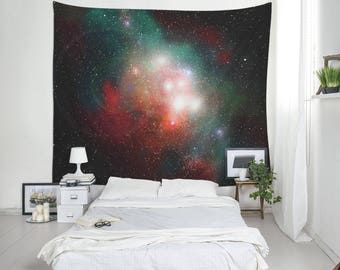 Nebula Tapestry, Space Wall Decor, Space Decoration, Dorm Tapestry, Light Tapestries. UL054