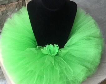 Halloween tutu, Tinkerbelle tutu, Princess and the Frog tutu, First Birthday Outfit, Cake Smash Tutu, Green Tutu, Lime Green Tutu, Baby Tutu