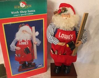 "Lowe's Home Improvement 16"" Collector Santa from Kurt S. Adler Santa's World"