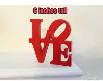Philadelphia LOVE PARK Sign   6 inches tall    love park statue Pennsylvania  Robert Indiana artist