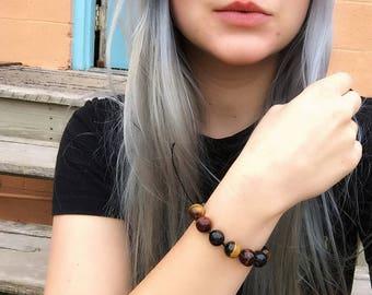 Simple Tigers eye adjustable bracelet!