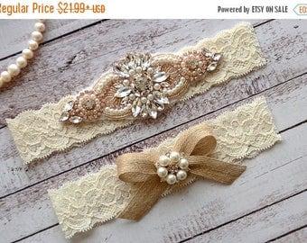 ON SALE Wedding Garter, NO Slip Lace Wedding Garter Set, bridal garter set, pearl and rhinestone garter set, vintage rhinestones Style A1096