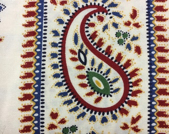 Provencal by Sand Klop of American Jane for Moda 21733 11 Paisley Border Stripe Ivory