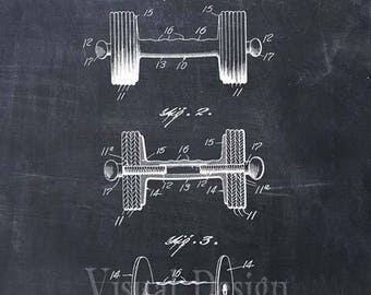 Dumbbell Patent Print Dumbell Art Print Gym