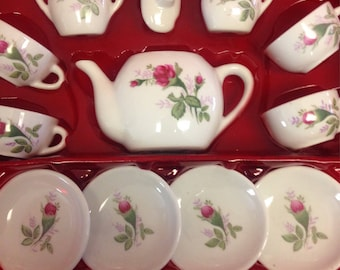 Child's Porcelain Tea Set - 13 pieces