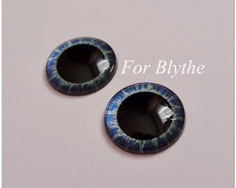 Hand painted 14mm eye chips for Blythe.