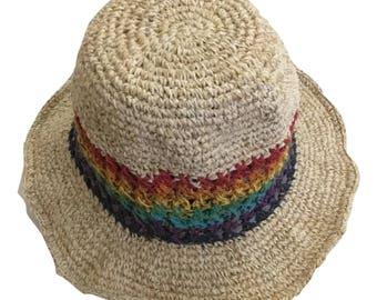 Eco Friendly Boho Pure Hemp Sun Bonnet