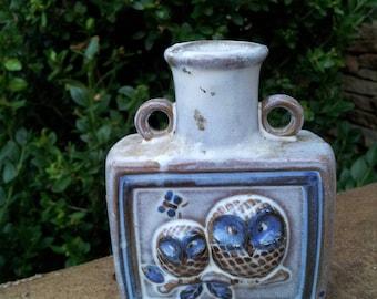 Small Vintage Pottery Owl Vase