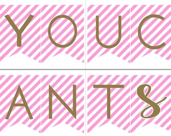 You Can't SIP With Us | Party Banner | Bachelorette Decorations