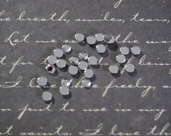 20 rhinestone silver and shiny ready to stick 3 mm