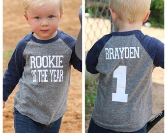 Rookie of the year birthday shirt,Baseball birthday shirt, boys birthday shirt, baseball birthday party, 1st birthday shirt, first birthday