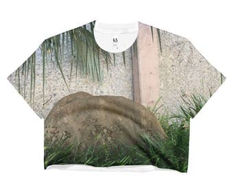 Palm Garden Crop Top