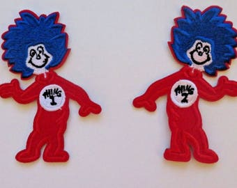 Thing 1 and Thing 2 iron on