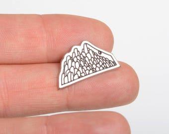 Mountain lapel pin, wanderlust pin, lapel pin, hiking lapel pin, explorer lapel pin, wilderness lapel pin, nature lapel pin