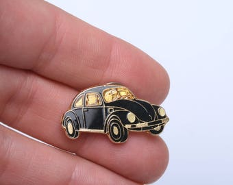 Volkswagen beetle car, retro car pins, volkswagen lapel pin, car enamel pin, enamel pin, enamel lapel pin, hippie lapel pin
