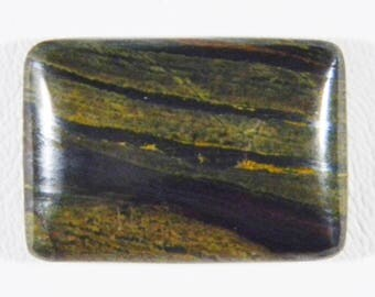 Natural Tigeriron cabochon, rectangle, 30x20x6mm. A perfectly cut and polished cabochon. This tigeriron is from Australia.