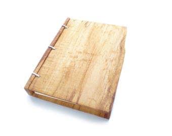 Maple Wooden Notebook, Wooden Wedding Guestbook, Wood Journal, Engraved Notebook, Wooden Sketchbook, Custom Journal, Travel Notebook- 5x7