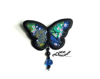 Japanese fabric Butterfly brooch