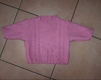 Very soft hand knit cotton sweater 3 months
