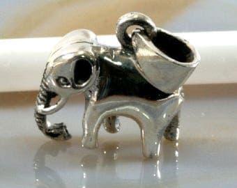 Elephant pendant 925 sterling silver-elephant, pendant 925 sterling silver, Patmoo 1177