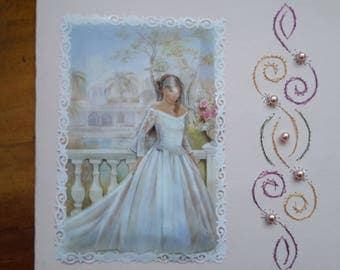 Bride - made 3D handmade card