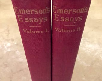 Emerson's Essays Series 1 and 2 R. W. Emerson (1910s)