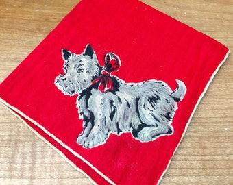 Vintage Child's Scotty Dog Handkerchief