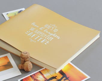 """Embossed """"Here's To Love And Laughter""""... Leather Photo Album"""