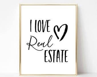 Real Estate Agent Decor | Real Estate Wall Decor | Real Estate Gift | Real Estate Agent Gift