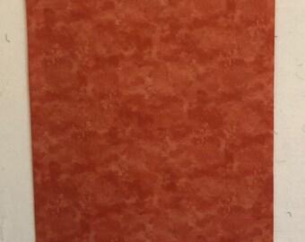 Pillowcase - Dark Orange and Paint Brush Splashes