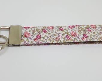 liberty fabric wrist key fob key chain ELOISE