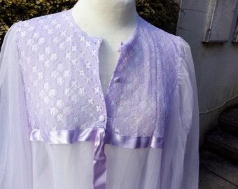 Vintage Lilac Negligee UK size 20