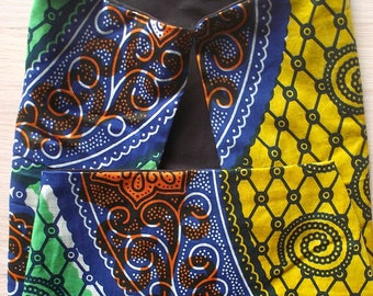STOLE WITH AFRICAN FABRICS