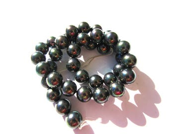 10 black Baroque 10 mm Tahitian pearls