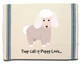 Poodle Kitchen Towel,Whimsical Dish Towel,Dog Tea Towel,Dish Cloth, Gift for Dog Lover, Puppy Love, Gift for Her,Dog Lover Gift,Poodle Gift