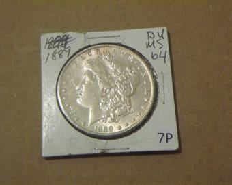 BU 1889 Morgan Dollar