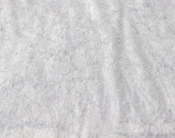 Panne de velours blanc 100% polyester de 50 x 160 cm