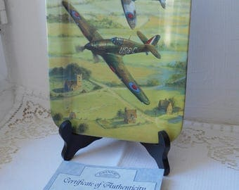 stunning vintage davenport limited edition memorial flight collectors plate
