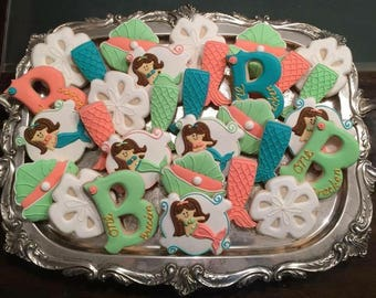 Mermaid Sugar Cookies  -  ONE DOZEN