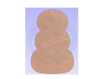 Unfinished Wood Pumpkin or Snowman Cutout - DIY - Wreath Accent - Door Hanger - Ready to Paint & Personalize
