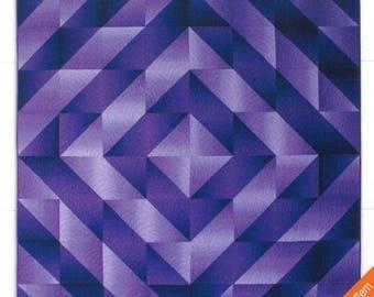 Ombre Diamond Quilt Pattern from Hunter's Design Studio