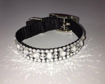 Dog collar, crystal dog collar, Crystal Cat Collar, Rhinestone collar, Small Dog Collar, Maltese collar, Yorkie collar, Bichon Frise
