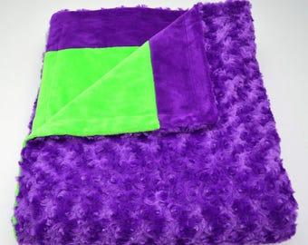 Purple & Lime Blanket