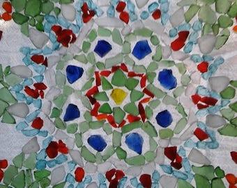 Sea Glass Starburst Mosaic