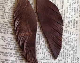 Leather Wing Earrings