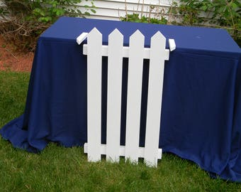 Handcrafted Wooden Picket Fence