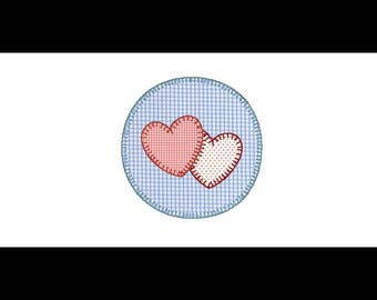 Circle design heart applique
