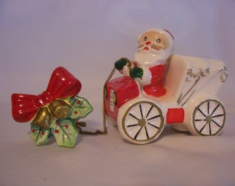 Santa in a Jalopy Candle Holder, Commodore Japan